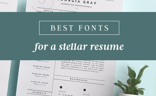 The font to use in the resume