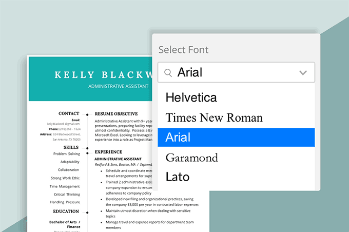 Best Font for Resume – What Font Should a Resume Be?